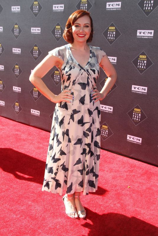ALICIA MALONE at TCM Classic Film Festival Opening Night in Los Angeles 04/26/2018