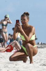 ALINA BAIKOVA in Bikinis at a Beach in Miami 04/01/2018