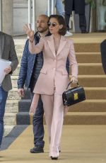 ALISON BRIE Leaves Her Hotel in Rome 04/18/2018