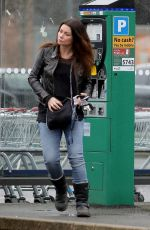 ALISON KING Out Shopping in Wilmslow 04/02/2018