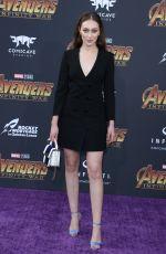 ALYCIA DEBNAM-CAREY at Avengers: Infinity War Premiere in Los Angeles 04/23/2018