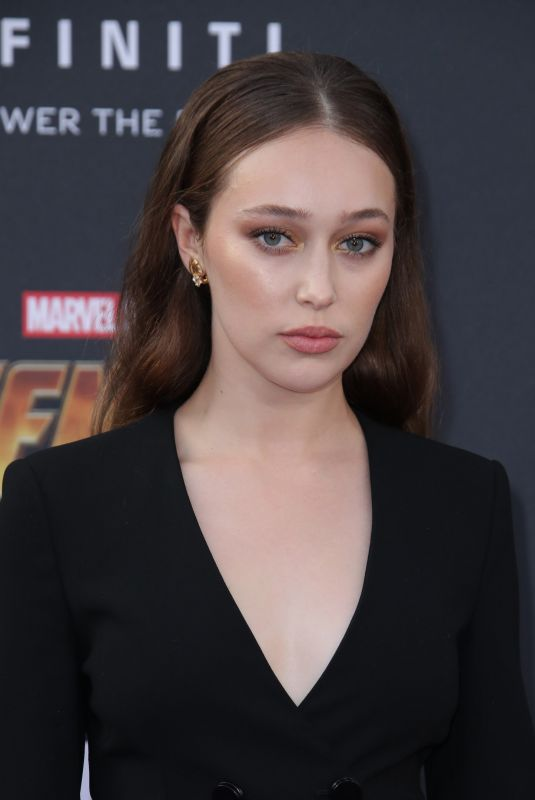 ALYCIA DEBNAM-CAREY at Avengers: Infinity War Premiere in Los Angeles 04/23/2018