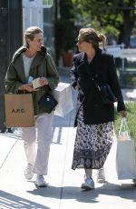 AMANDA PEET and SARAH PAULSON Shopping at Zimmermann in West Hollywood 04/19/2018
