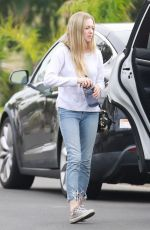 AMANDA SEYFRIED Out and About in Los Angeles 04/01/2018