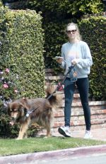 AMANDA SEYFRIED Out with Her Dog Finn in Los Angeles 04/05/2018