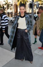 AMANDA STEELE Arrives at a Party at Rodeo Drive Burberry Store in Beverly Hills 04/18/2018
