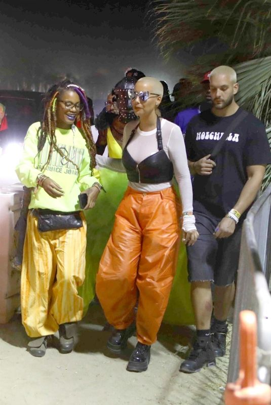 AMBER ROSE at Coachella Music Festival 04/16/2018