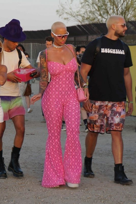 AMBER ROSE at Coachella Valley Music and Arts Festival in Palm Springs 04/13/2018