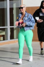 AMBER ROSE Leaves a Gym in Los Angeles 04/06/2018