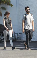 ANA DE ARMAS Out with Her Boyfriend in Los Angeles 03/29/2018