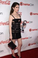 ANNA KENDRICK at Big Screen Achievement Awards at Cinemacon in Las Vegas 04/26/2018