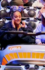 ARIANA GRANDE Out with Friends at Disneyland in Anaheim 04/08/2018