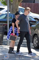 ARIEL WINTER and Levi Meaden Out in Los Angeles 04/26/2018