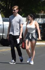 ARIEL WINTER and Levi Meaden Renew Their Driver Licenses in Los Angeles 04/25/2018