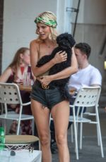 ASHLEY JAMES Out and About in London 04/23/2018