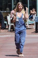 BASKIN and ABBY CHAMPION Out for Lunch in Brentwood 04/25/2018