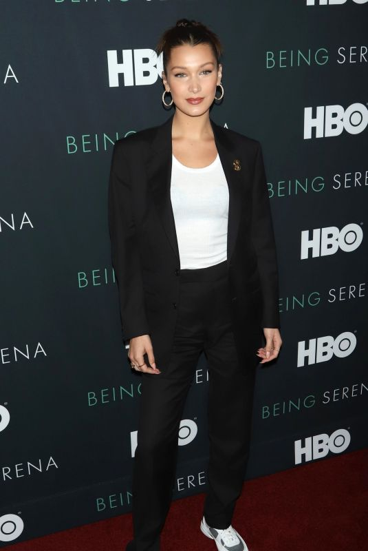 BELLA HADID at Being Serena. Her Story. Her Words Premiere in New York 04/25/2018