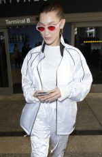 BELLA HADID at LAX Airport in Los Angeles 04/12/2018