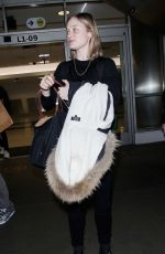 BELLA HEATHCOTE at Los Angeles International Airport 04/20/2018