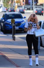 BLAC CHYNA at a Hair Salon in Studio City 04/19/2018