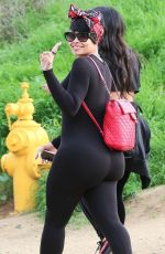 BLAC CHYNA Out Hiking at Runyon Canyon in Los Angeles 03/31/2018