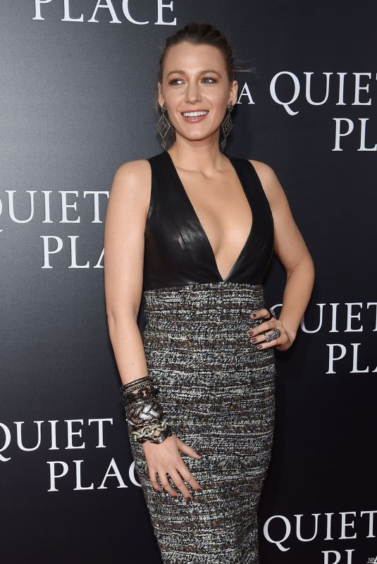 BLAKE LIVELY at A Quiet Place Premiere in New York 04/02/2018