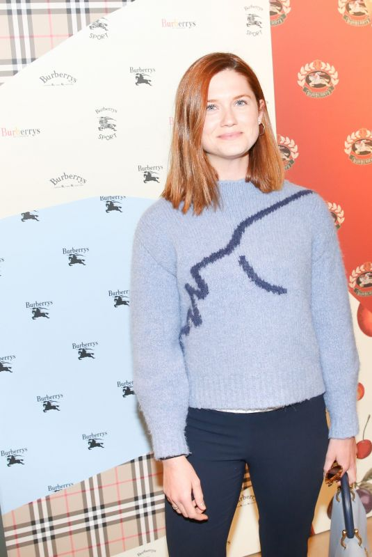 BONNIE WRIGHT at Burberry x Elle Celebrate Personal Style with Julien Boudet in Los Angeles 04/18/2018