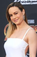 BRIE LARSON at Avengers: Infinity War Premiere in Los Angeles 04/23/2018
