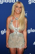 BRITNEY SPEARS at Glaad Media Awards 2018 in Beverly Hills 04/18/2018