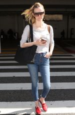 BROOKLYN DECKER at LAX Airport in Los Angeles 04/19/2018