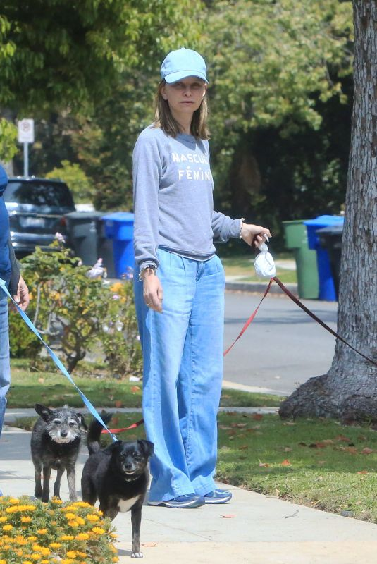 CALISTA FLOCKHART Out with Her Dogs in Brentwood 04/24/2018
