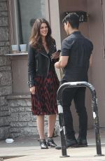 CALLIE HERNANDEZ on the set of Mixtape in Los Angeles 04/04/2018