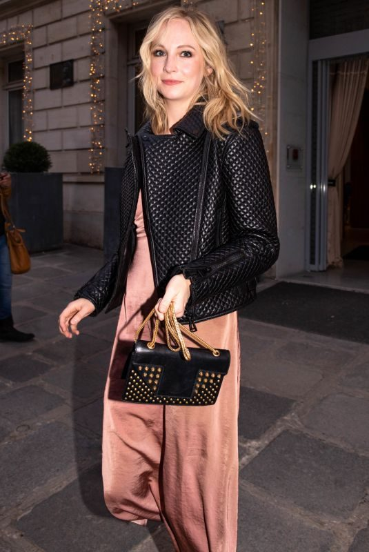 CANDICE KING Out and About in Paris 04/29/2018