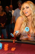 CARMEN ELECTRA at $100,000 Blackjack Tournament in Miami 04/15/2018