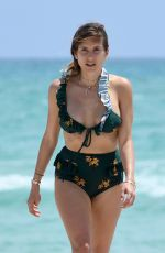 CATHY FISCHER in Bikini at a Beach in Miami 04/23/2018