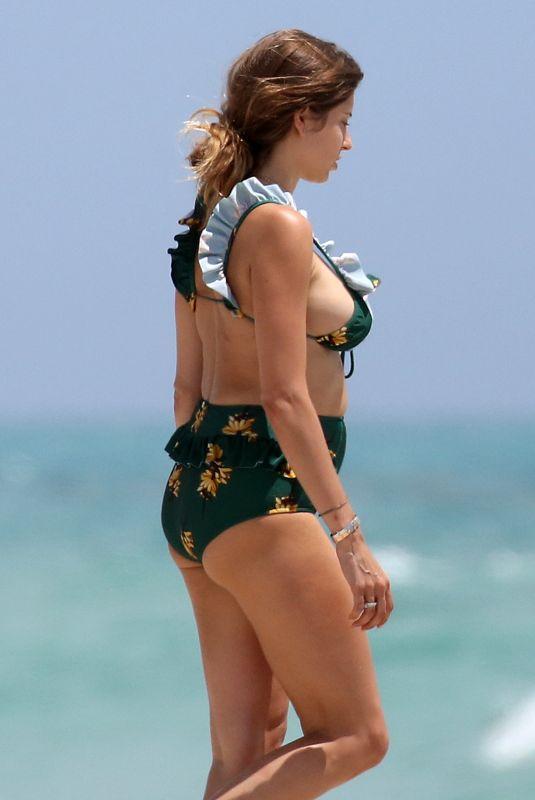 CATHY FISCHER in Bikini at a Beach in Miami 04/23/2018
