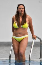CHANELLE HAYES in Bikini at a Pool in Spain 04/01/2018