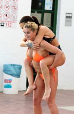 CHANTELLE CONNELLY and DANIELLE WESTBROOK in Bikinis at Pool in Gran Canaria 04/27/2018