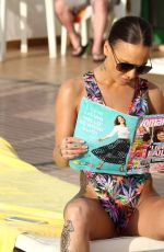 CHANTELLE CONNELLY in Swimsuit at a Pool in Gran Canaria 04/24/2018