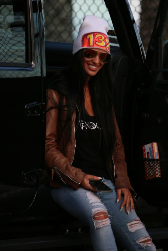 CHARLIE RIINA in Hoody and Jeans for 138 Water in Malibu 04/18/2018