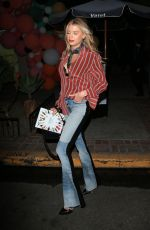CHARLOTTE MCKINNEY Leaves a Party in West Hollywood 04/04/2018
