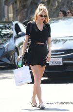 CHARLOTTE MCKINNEY Shopping at Kate Somerville in West Hollywood 04/27/2018