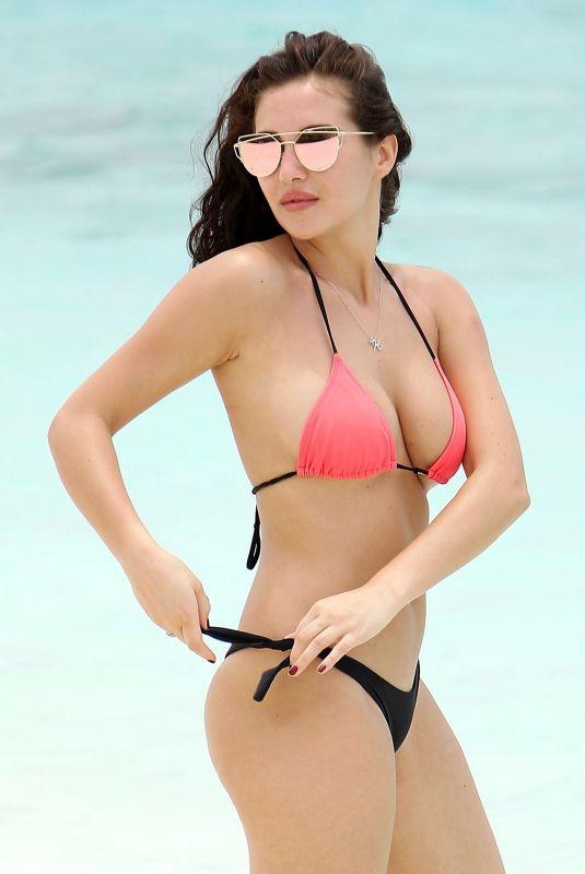 CHLOE GOODMAN in Bikini at a Beach in Dubai 04/02/2018