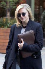 CHLOE MORETZ Leaves Her Hotel in New York 04/23/2018