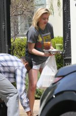 CHLOE MORETZ Receives Food Delivery at Her Home in Los Angeles 04/05/2018