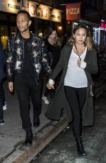 CHRISSY TEIGEN and John Legend Night Out in New York 03/30/2018
