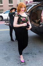 CHRISTINA HENDRICKS Arrives at Egg Screening at Tribeca Film Festival 04/21/2018