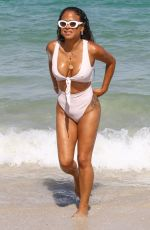 CHRISTINA MILIAN in Swimsuit at a Beach in Miami 04/29/2018