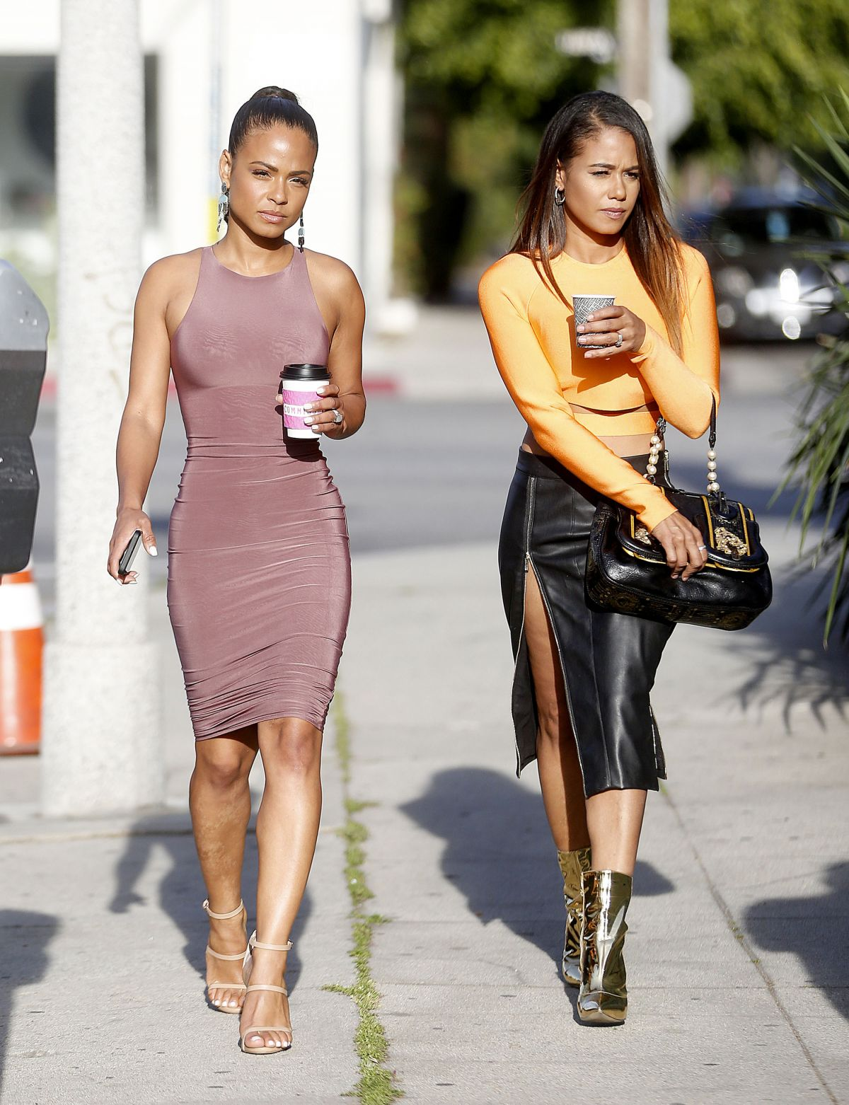 CHRISTINA MILIAN Out with Her Sister in West Hollywood 04 ...