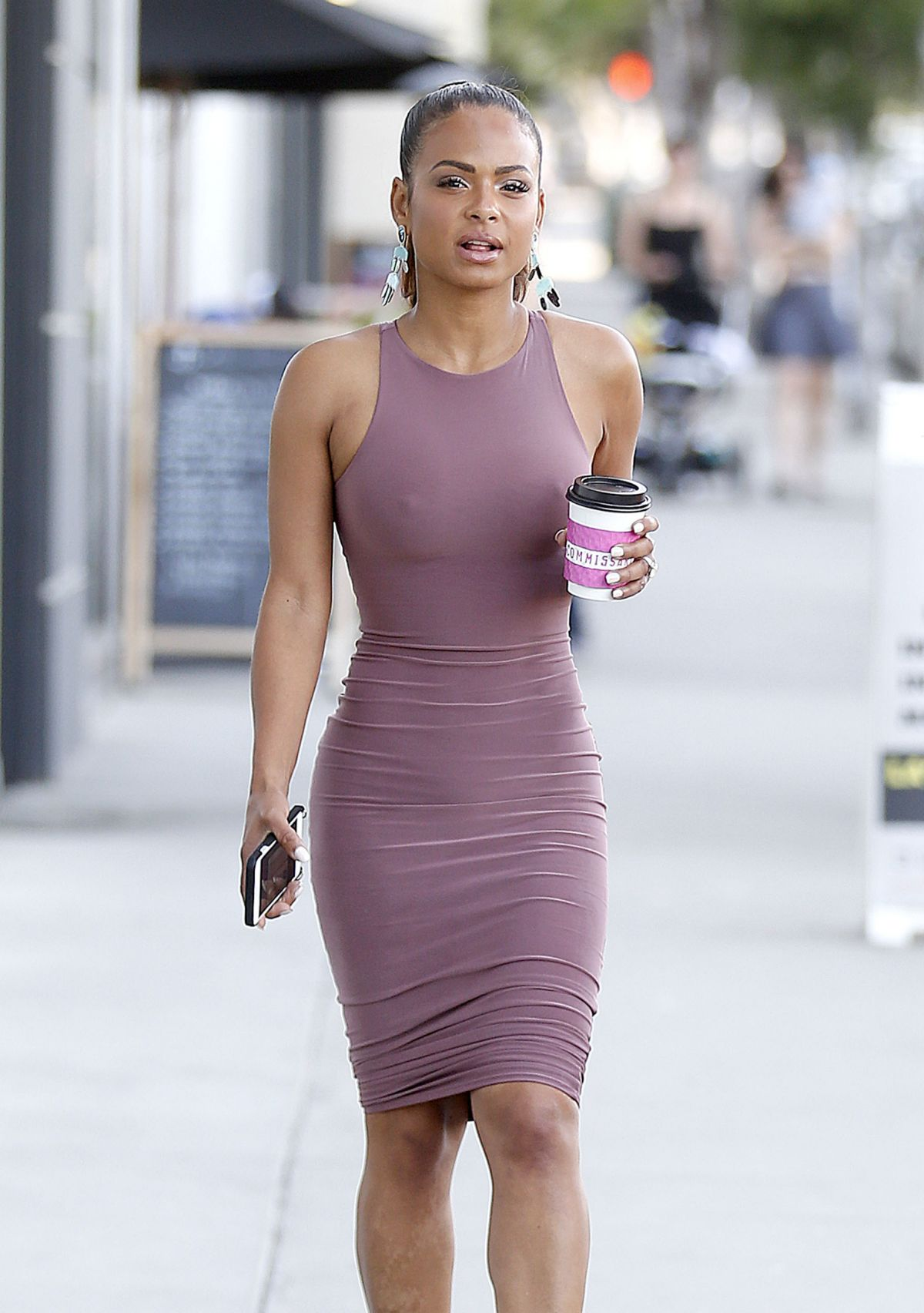 Christina Milian Out With Her Sister In West Hollywood 04